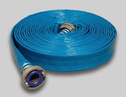 Aquadur-Flachschlauch für die Trinkwasserversorgung u. Lebensmitel blau aussen mit PU-Beschichtung B